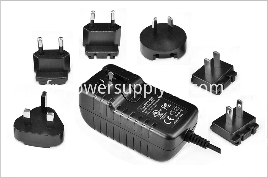19V Interchangeable Plugs Wall Charger