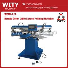 WPMY-2/8 máquina de impressão automática da tela da etiqueta das cores dobro