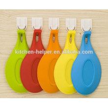 Alta qualidade mais vendidos de silicone utensílios de cozinha sopa colher titular