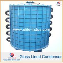 Condensador tipo placa de vidro revestido