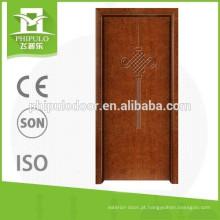 2016 Novo estilo de alta qualidade porta de madeira maciça popular no mercado da Índia