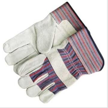 , Безопасность рабочих коров сплит кожаные перчатки.