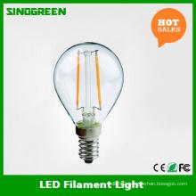 Europe Hot Sell G45 E14 2W LED Filament Ball Bulb