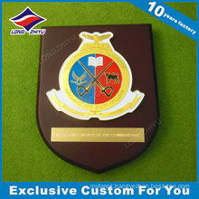 Soft Enamel School Wooden Plaque with Star Logo