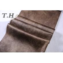2017 hot Stamping y realzado tela del ante para el sofá y silla