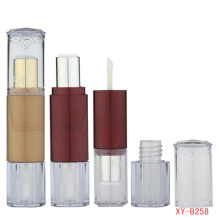 Elegant Double Head Lipstick and Lip Gloss Tube