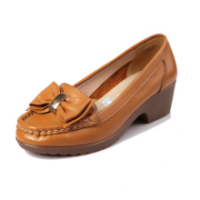 Wholesale desinger ladies fancy leather China flat price shoes last for sale