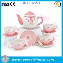 Лучший Подарок Современный Розовый Цветок Красивый Чайный Сервиз