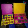 Palette de fard à paupières magnétique en papier couleur or avec miroir à deux pinceaux