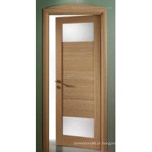Porta de vidro de madeira do estilo interior do abanador feita em China
