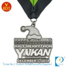Kundenspezifische billige Eisendruck-Stempel-Halbmarathon-Medaille in Metallfarbe