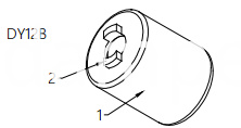 Barrel Damper Drawing of DY12B