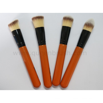 Ferramentas de Cosmetic do jogo da escova do pó sintético livre da amostra 4PCS