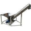 Screw augers conveyor with hopper