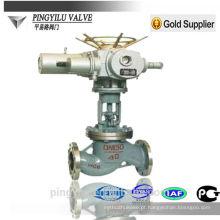 Válvula de globo motorizada manual de aço fundido de aço flange final globo válvula subindo haste haste de segurança da válvula para pipeline válvula de controle desenho