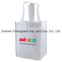 Eco Friendly Reusable White Promotional Non-Woven Tote Shopping Bag