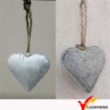 Vintage rústico vintage rústico pendurado metal coração parede decoração