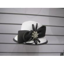 Chapéus de terno de derby de trança poli para senhoras