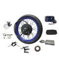 Enduro Bomber blue rims 48-72v5000W electric motorcycle bicycle bike conversion kits with TFT Colorful display