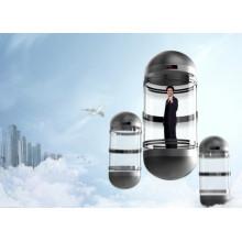 Sicherer 1000kg Glaspanoramischer Aufzug