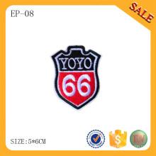 Étiquette brodée EP-08 pour jeans et vêtement