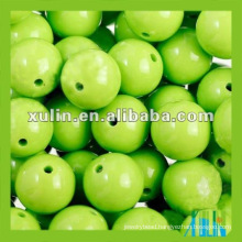 Acrylic material glossy green round ball grade silicone beads