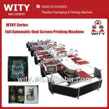 Máquina de impressão têxtil oval automática