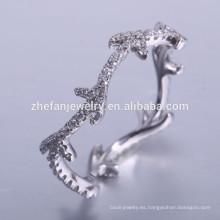la última moda 925 anillos de cz de china de plata con compromiso de piedras preciosas