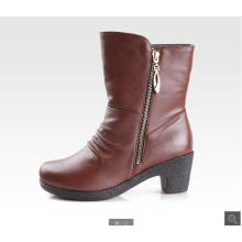 2015 China sapato fábrica elegante couro barato botas de couro