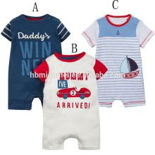 2017 Оптовая Детская Одежда Органический Хлопок Вязать Ткань Новорожденный Комбинезон