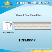 Modern design pu ceiling crown moulding for house ceiling