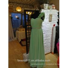 Robe de soirée formelle de bal Floral A-line One épaule robe de soirée P090