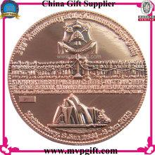 Moneda del desafío del metal con el logotipo 3D para el regalo religioso