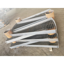 Low Carbon Steel Non Slip Outdoor Spiral Stair Treads