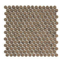 Soulscrafts Recycled Full Body Penny Round Glass Mosaic Tiles