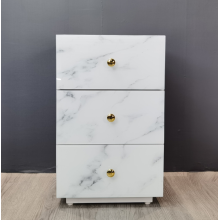 Marble bedside table made of glass