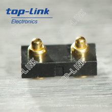 SMT Pogo Conector de clavija con 2 contactos, cargado por muelle