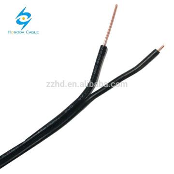 2 cabo de telefone exterior do fio da gota do núcleo 0.71mm fábrica