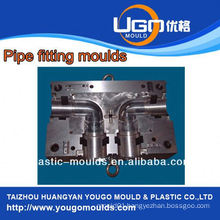 Plastic mold supplier for standard size pvc 45 degree elbow pipe fitting moulding in taizhou China