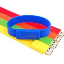 Bracelet USB en silicone personnalisé à la vente chaude