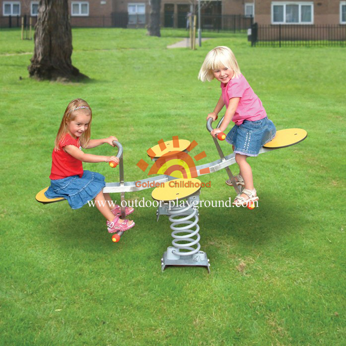 Metal Children S Spring Seesaw