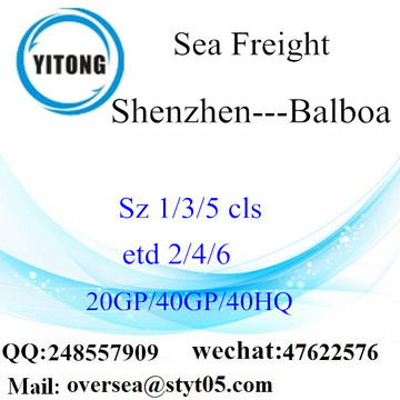 Shenzhen Port Sea Freight Shipping Para Balboa