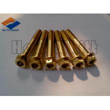 goldener Gr5 Titan-Flanschbolzen