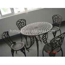 Aluminium-Sandguss Outdoor-Gartenmöbel gesetzt