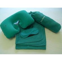 Fleece Bag Neck Pillow Eyemask Blanket Kits