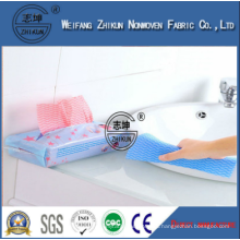 Eco-friendly Disposable Wipe Spunlace Nonwoven Fabric for Kitchen Cleaning
