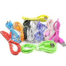 1/2/3m Micro USB2.0 Cord Charger Cable for Samsung Galaxy Sync Data Hemp Rope