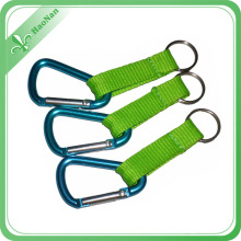 Factory Custom Promotional Aluminum Sport Carabiner Keychain