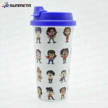 Tasses de couleur de sublimation couleur intérieure et poignée couleur tasses tasses à café