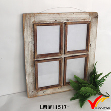Old Rustic Carved Hang Wood Window Picture Frame